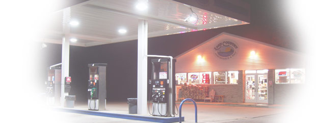 Fuel Pumps and Gas Station Building for Lake Country Convenience & Bait in Faribault, MN