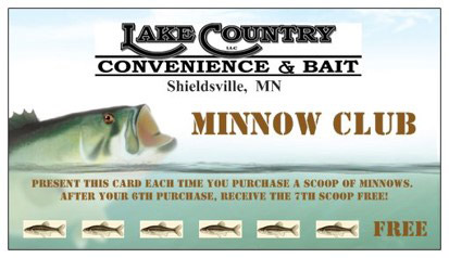Minnow Club Punch Card - Lake Country Convenience & Bait